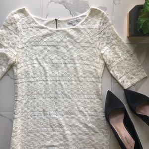 Banana Republic White Lace Dress